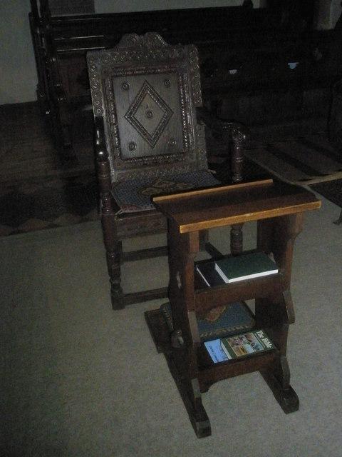 The incumbent's chair at St Mary's, Frensham