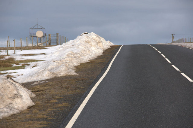 Piles of snow on Hill of Caldback