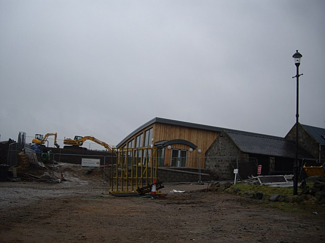 Extension works at Woodend Barn