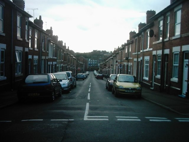 Peach Street from Stables Street, Derby