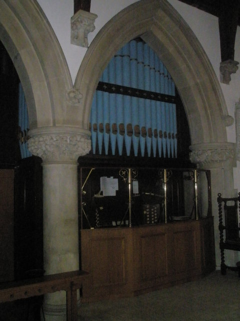 The organ at St Mary's, Frensham