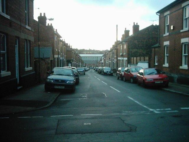 Howe Street from Stanley Street, Derby