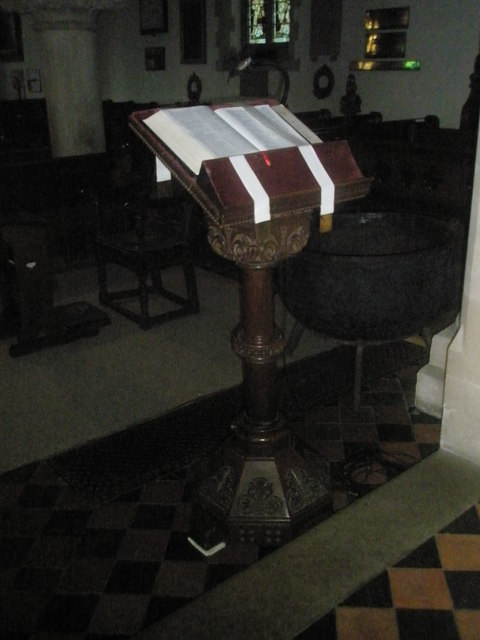 The lectern at St Mary's, Frensham