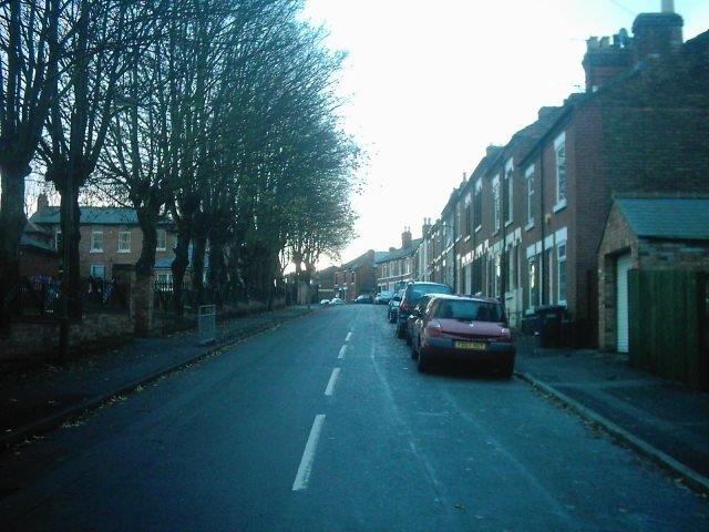 Handford Street from Richardson Street, Derby