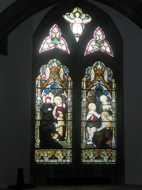 Stained glass window on the south wall at St Mary's Frensham (3)