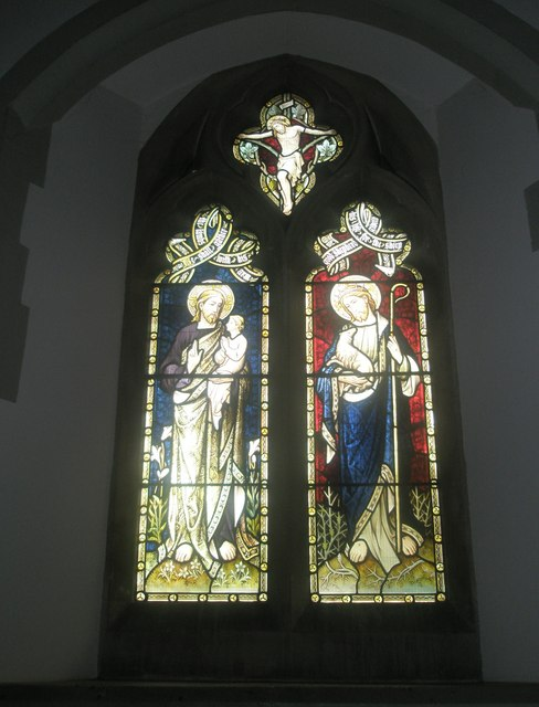 Stained glass window on the south wall at St Mary's Frensham (4)