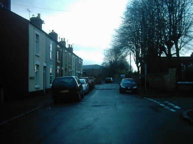 Richardson Street from Peel Street, Derby