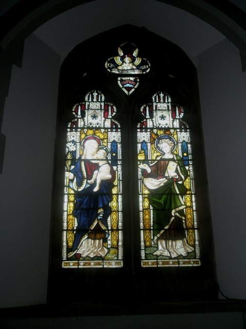 Stained glass window on the south wall at St Mary's Frensham (5)