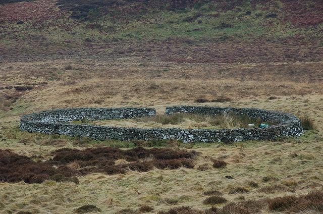Circular sheepfold, Riding Hill