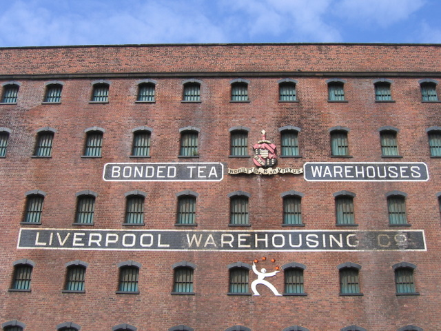 Inscription on the Bonded Tea Warehouse