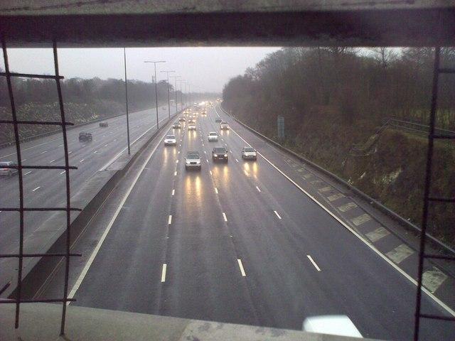 M25 in the Rain