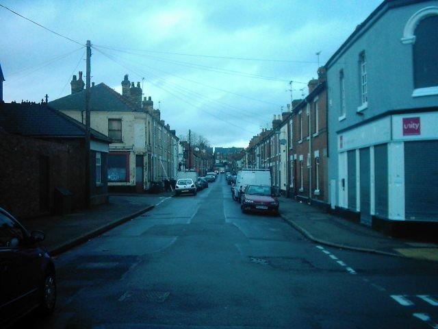 Peel Street from Surrey Street (R), Derby