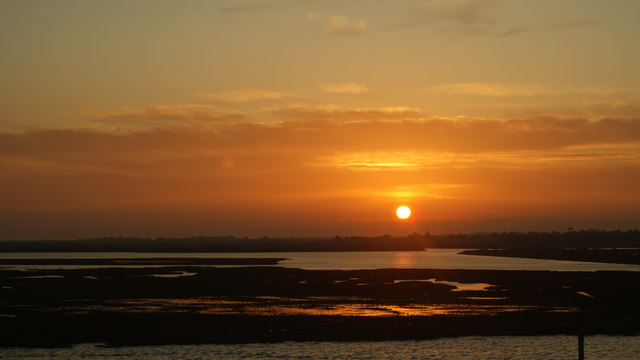 Sunset Over Lower West Lake, Lymington