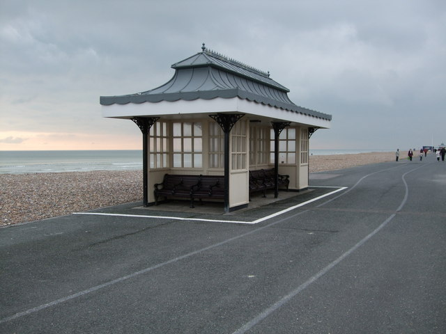 Shelter on Worthing Promenade