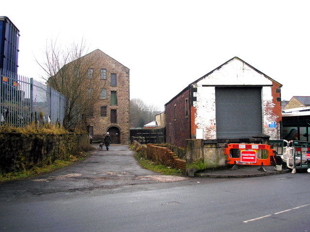 Barnoldswick:  The old corn mill from West Close Road