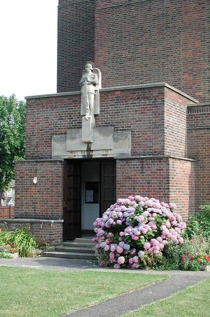 St Michael, St Michael's Avenue, Tokyngton, Middlesex - Porch