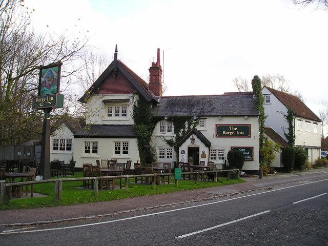 The Barge Inn Pub, Little Woolstone, Milton Keynes