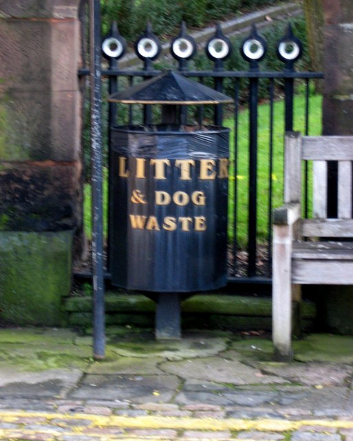 Litter & dog waste bin