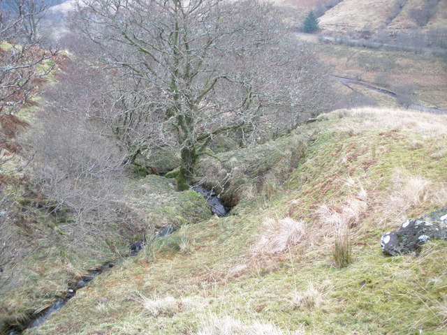 Small unnamed burn which flows into the Allt a' Chaol Ghlinne
