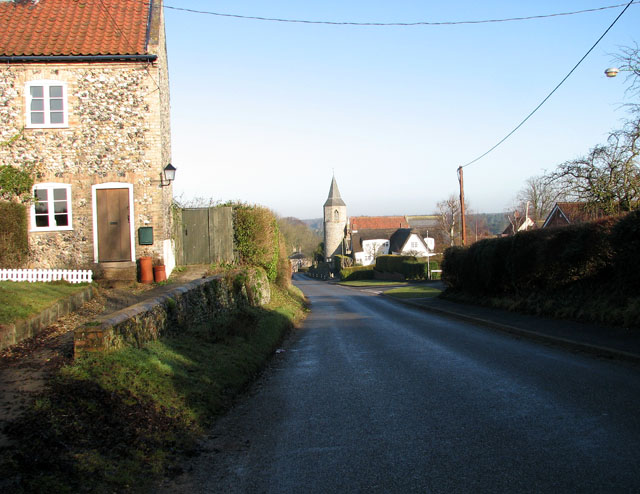 The Street - main thoroughfare through the village of Croxton