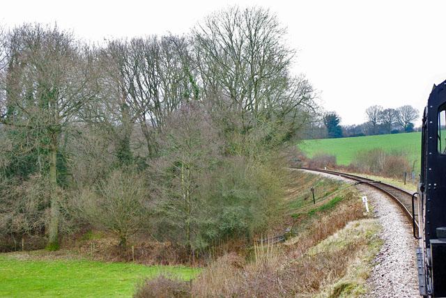 Footpath crossing, Bluebell Railway