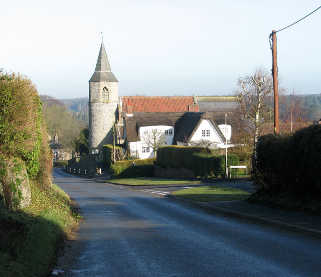 The Street past All Saints church