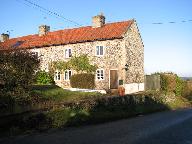 Flint and stone cottage in The Street