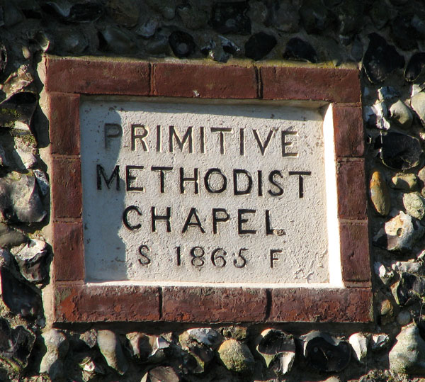 Primitive Methodist chapel (date stone)