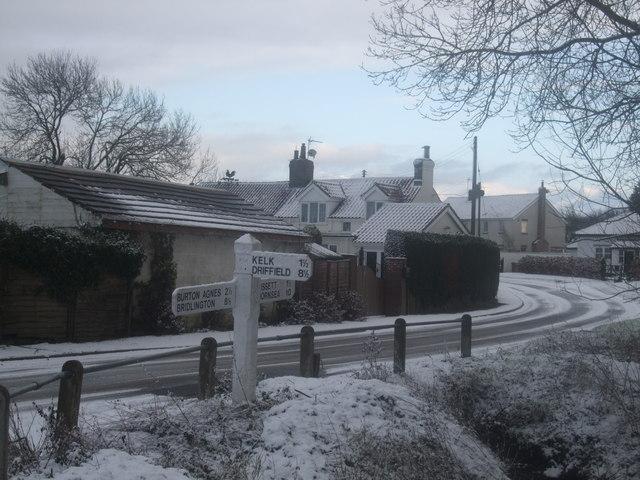 Gransmoor village winter scene