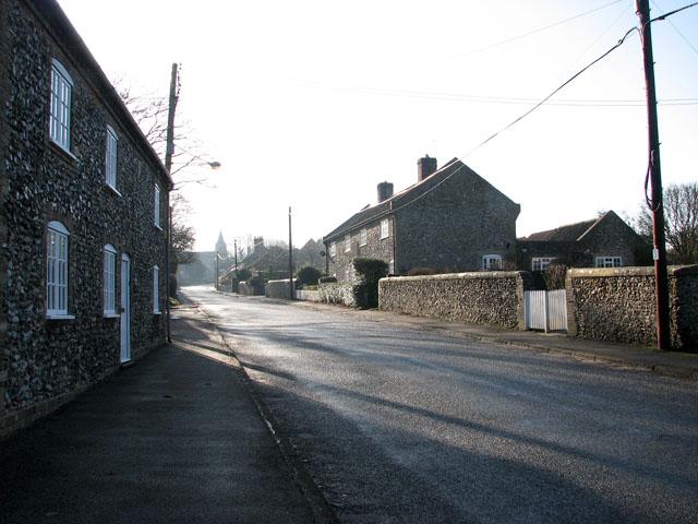 The Street through the village of Croxton