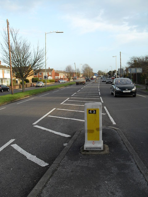 West Street  running parallel to Dore Avenue