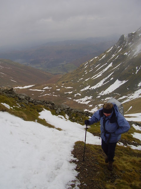 The path from Grisedale hause.