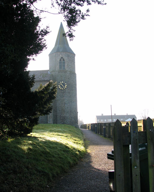 Path to All Saints church