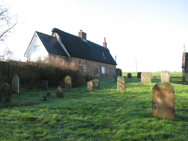 Thatched cottage adjoining All Saints church