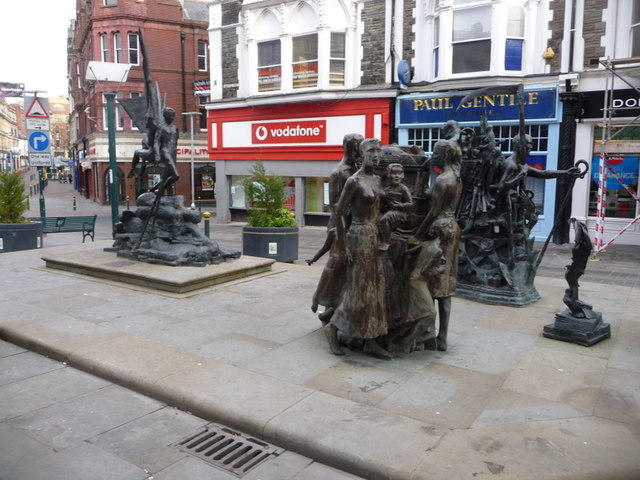 Newport: Chartist Sculpture, Commercial Street