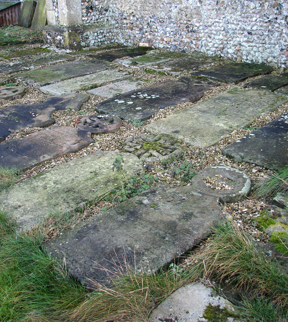 All Saints church - old headstones