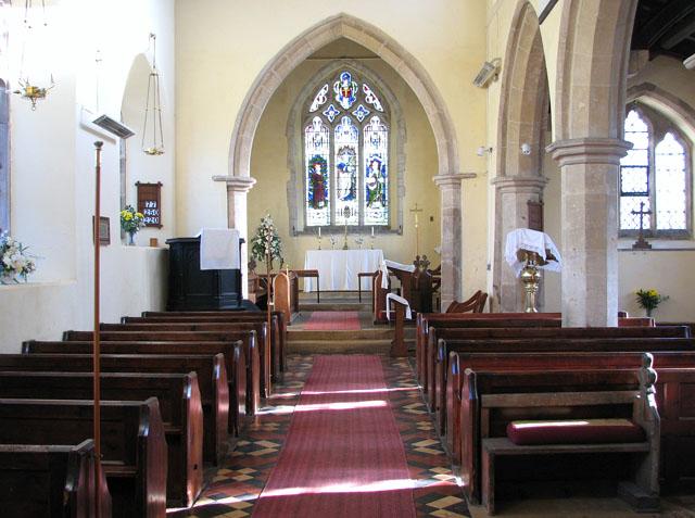 All Saints church - view east
