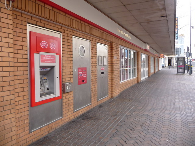 Newport: Bridge Street Post Office and postbox № NP20 209