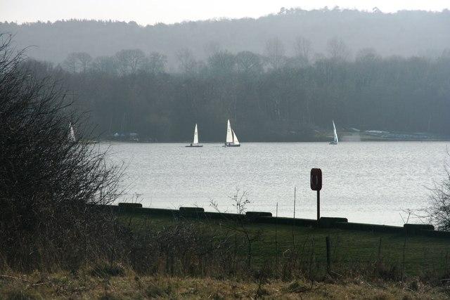 Sailing on Weirwood Reservoir