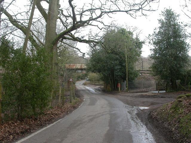 Battramsley, railway bridge