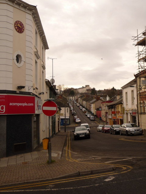 Newport: Caxton Place with West Street beyond