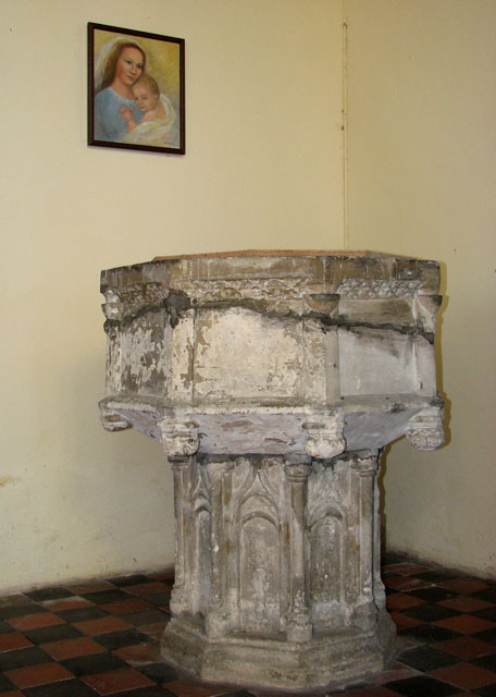 All Saints church - C15 baptismal font
