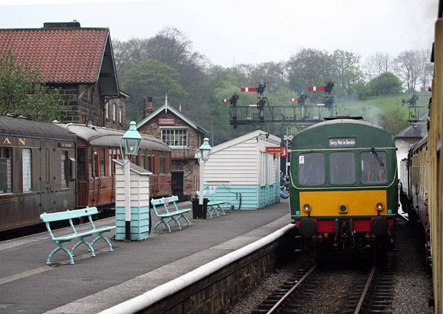 Grosmont station platform