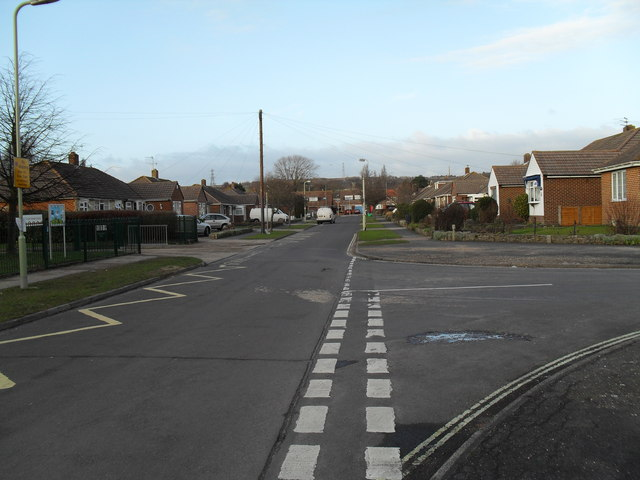 Junction of  Hatherley Crescent and Hatherley  Drive