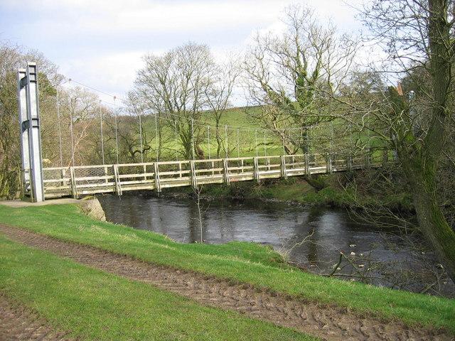 Lanerton Suspension Bridge (foot)