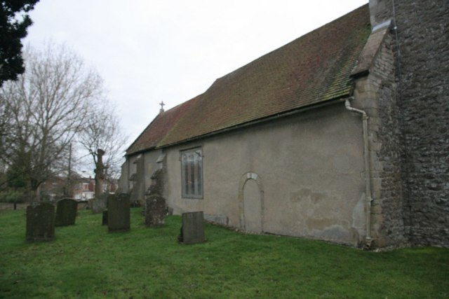 North side of the church