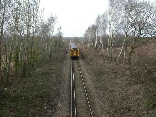Battramsley, railway line