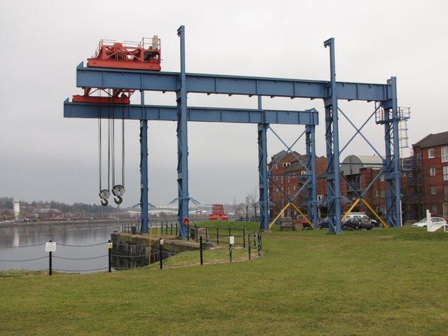 Heavy lifting gear at Preston Marina