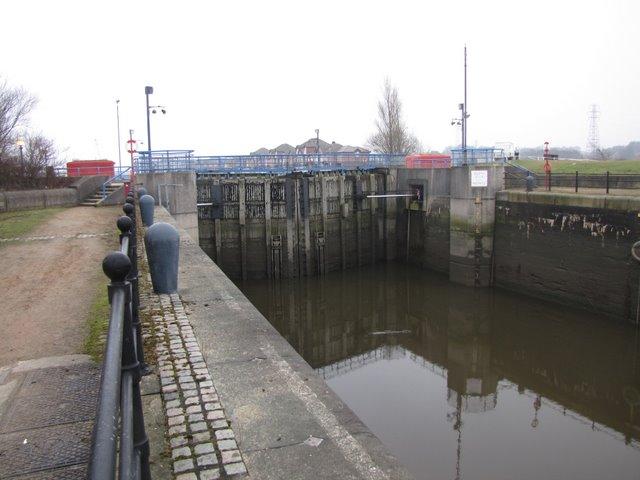 Preston Marina's lock gates