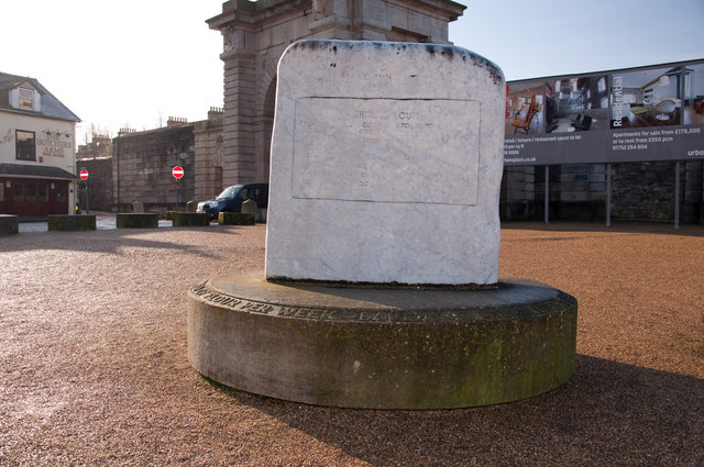 Commemoration of a biscuit at Stonehouse - Plymouth